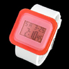 Multifunction White Plastic Band Orange Water Resistant Children Sports Watch