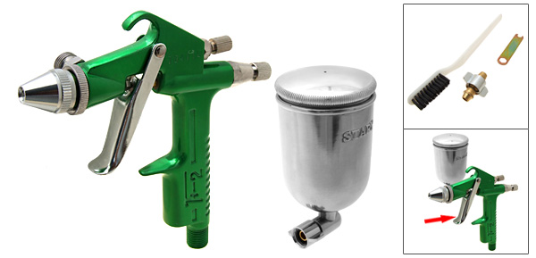 Green Spray Gun Paint Tool Sprayer Air Brush Airbrush