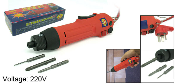 AC 220V Direct Plug-In Torque Electric Screwdriver Drill 900RPM
