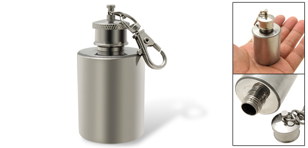Mini Stainless Steel Alcohol Flask Bottle with Keychain