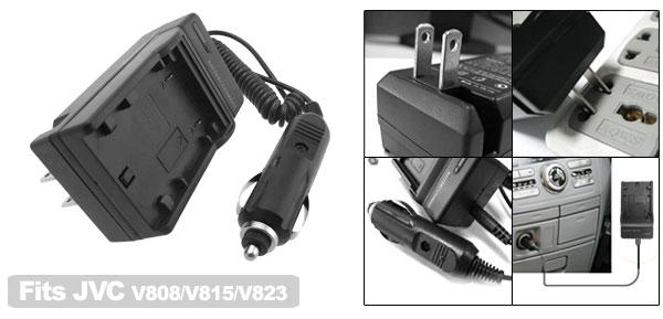 US Plug 100V-240V Home Camera Battery Charger for JVC 815 BN VF823