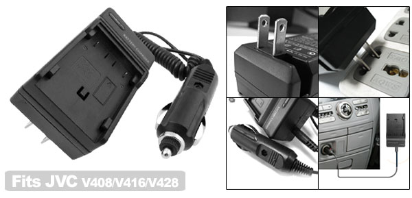 Home Travel Camera Battery Charger for JVC V416 BN-V428
