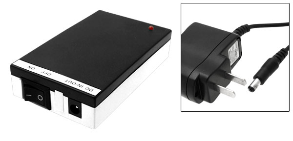 1800mAh Super Rechargeable Li-ion Lithium Battery and Charger for CCTV Camera