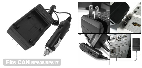 US Plug AC100-240V Digital Camera Battery Charger for Canon BP608 BP617 DV-MV20