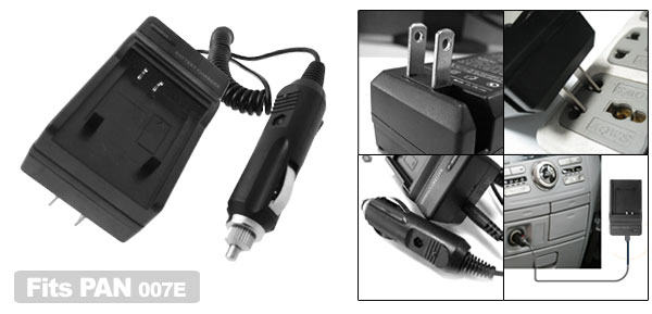US Plug AC100-240V Camera Battery Charger for Panasonic CGA-S007 CGR-S007E DMC-TZ1