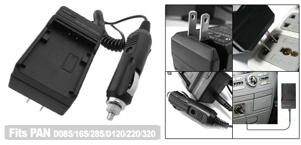 US Plug AC100-240V Camera Battery Charger for Panasonic CGR-D08S CGR-D16S CGR-D120