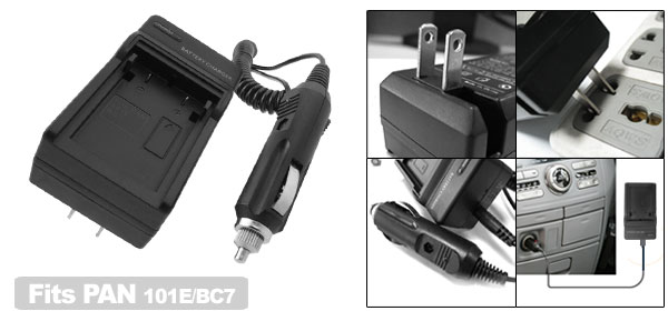 US Plug Battery Charger for Panasonic CGR-101E DMW-BC7 Camera DMC-F7