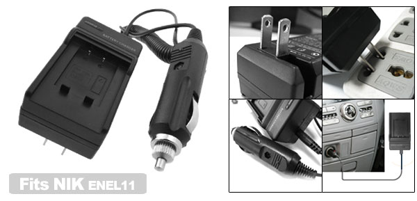 Digital Camera Battery Charger for Nikon ENEL11 EN-EL11 CoolPix S550