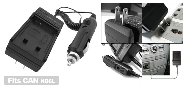 Digital Camera Battery Charger for Canon NB-6L NB6L IXUS 85 IS