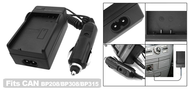 Travel Battery Charger for Canon BP208 BP308 BP315 Camera DC10