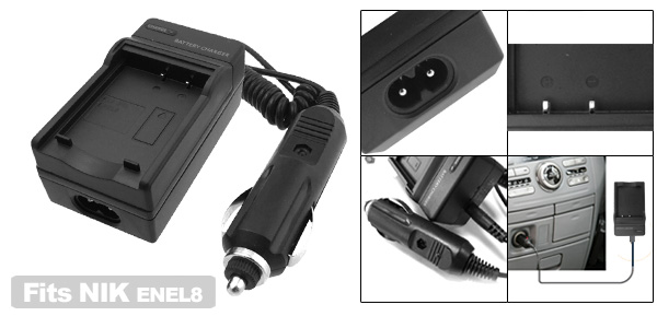 Digital Camera Battery Charger for Nikon ENEL8 EN-EL8 Coolpix P1 P2 S1