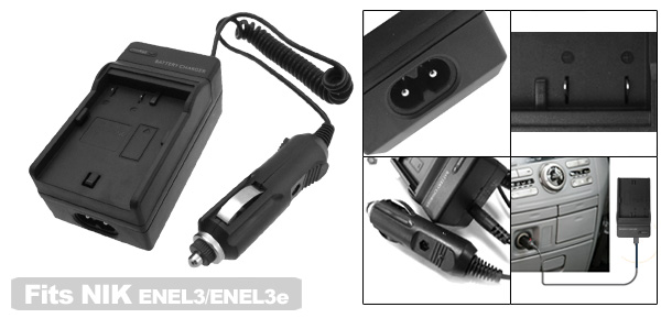 Digital Camera Battery Charger for Nikon ENEL3 EN-EL3 ENEL3e D50 D70 D100