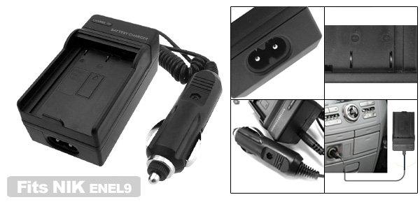 Travel Battery Charger for Nikon ENEL9 EN-EL9 Digital Camera D40 D40x