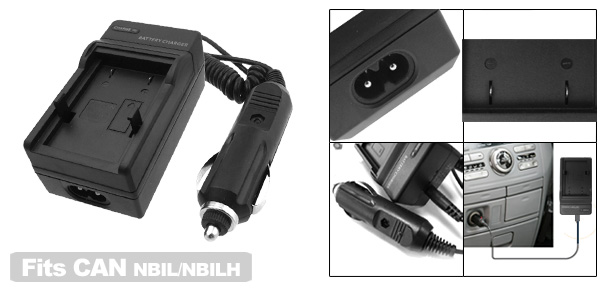 Battery Charger for Canon NB-1L NB1L NB-1LH NB1LH Camera S500