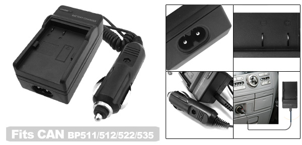 Digital Camera Battery Charger for Canon BP511 BP512 BP522 BP535
