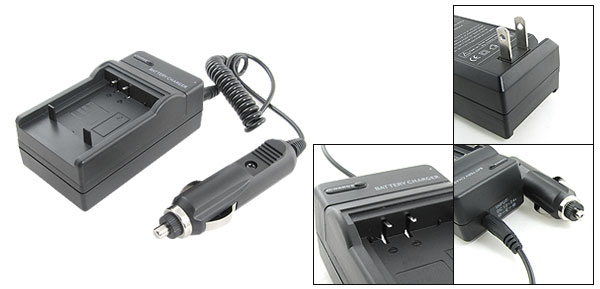 Travel Battery Charger for Panasonic CGA-S007 CGR-S007E Camera DMC-TZ1