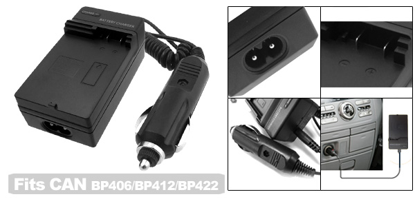 Travel Digital Camera Battery Charger for Canon BP406 BP412 BP422