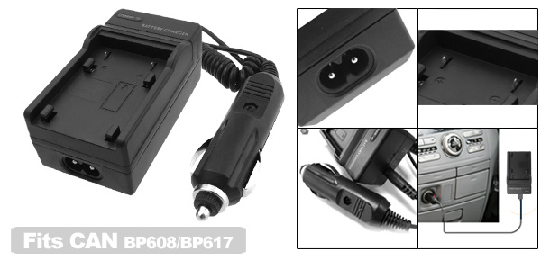 Travel Battery Charger for Canon BP608 BP617 Camera DV-MV20