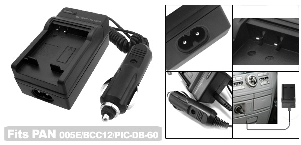 Digital Camera Battery Charger for Panasonic CGA-S005E DMW-BCC12 DMC-FX50