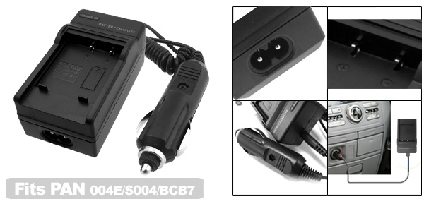 Digital Camera Battery Charger for Panasonic CGA-S004 DMW-BCB7 DMC-FX7