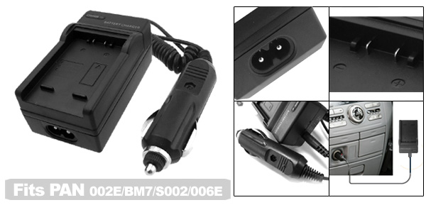 Digital Camera Battery Charger for Panasonic CGA-S002 DMW-BM7 CGA-S002E