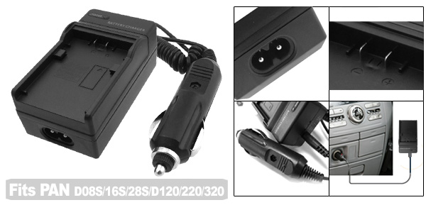 Digital Camera Battery Charger for Panasonic CGR-D08S CGR-D16S CGR-D120