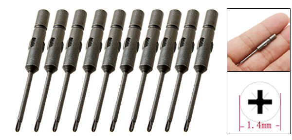 10 Pieces Mini Magnetic Crosshead Screwdriver Bits Set Repair Tool