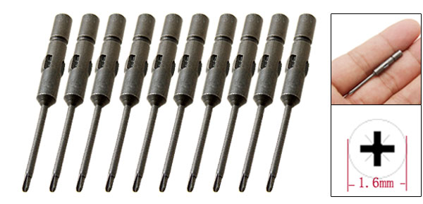 10 In 1 1.6mm Phillips Crosshead Screwdriver Bits Set Jewelry Eyeglass Repair Tool