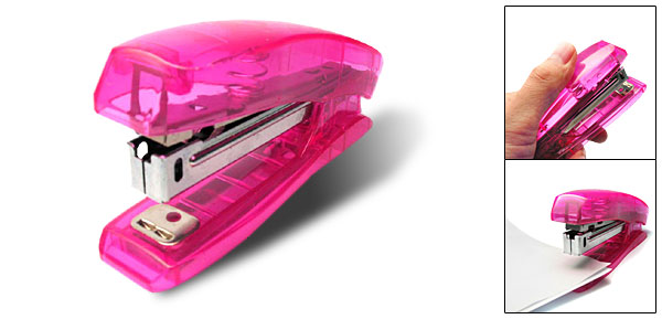 Purple Pink Transparent Plastic Mini Stapler for NO 10# Staple (NO.102)