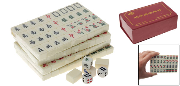 Portable Chinese Mahjong Mini Mah Jong Tiles Set