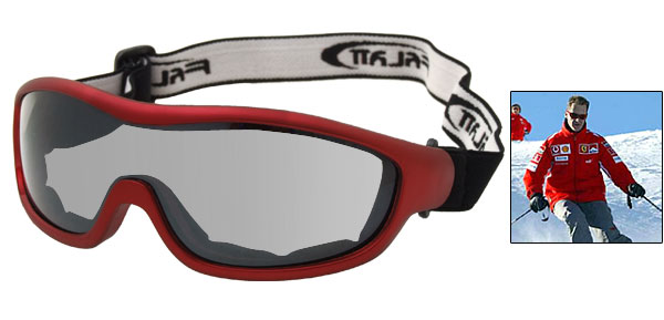 Red Frame Ski Snow Skate Sports Goggles Glasses