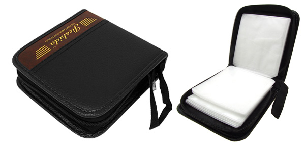 Leather DVD VCD CD Carrying Storage Case Bag Holder Black & Brown