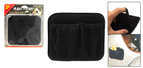 Portable Black Netty Car Pleat Pocket Storage Bag