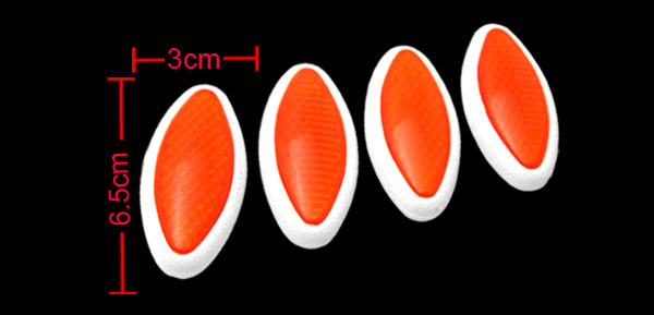 Orange Olive Shaped 4 Pieces Car Door Guard Decorative Sticker (LK-216)