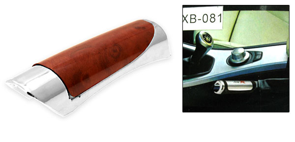 Car Auto Hand Brake Handle Cover Silver and Brown (XB-083)