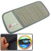 Universal Grey Auto Organizer Holder Car 12-Capacity CD Visor Bag Cover PU