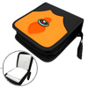 Leather DVD VCD CD Carrying Storage Case Bag Holder Black & Orang...