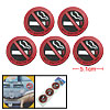 Auto Car Soft Plastic No Smoking Sign Round Adhesive Stickers 5 P...