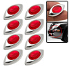 8 PCS Red Eyes Shaped Car Door Bumper Mirror Guard Protector