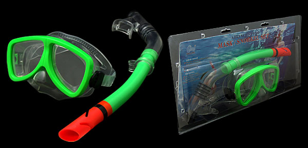 Scuba Diving Dive Swim Mask Dry Snorkel Snorkeling Set Green