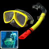 Kids Children Silicone Swim Snorkel Set Youth Mask Goggles & Snorkeling Yellow