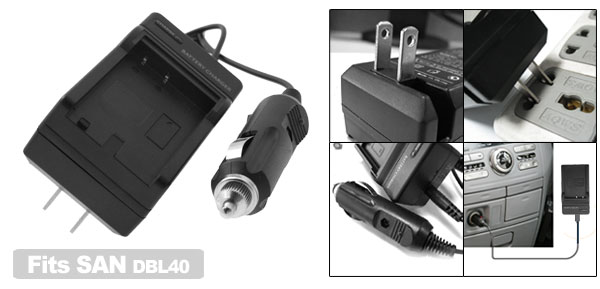 Digital Camera Battery Home Travel Charger For SANYO DBL40