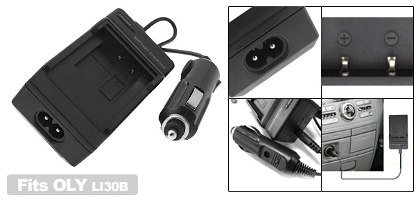 Digital Camera Battery Home Travel Charger For Olympus LI30B