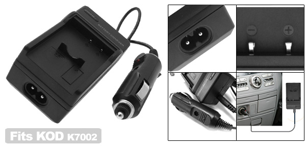 Digital Camera Battery Home Travel Charger For KODAK K7002