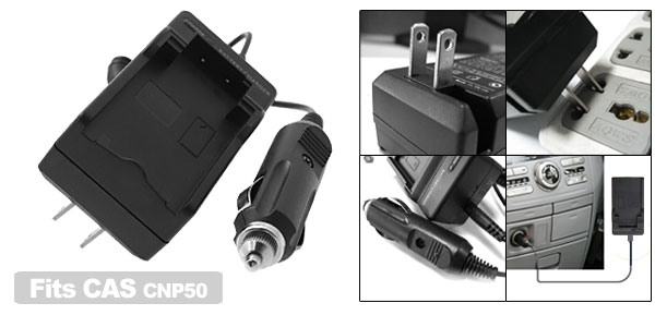 Digital Camera Battery Home Travel Charger For CNP50