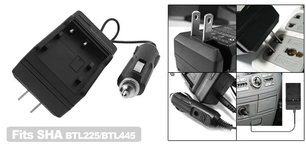New Digital Camera Battery Home Travel Charger For SHARP BTL225/BTL445