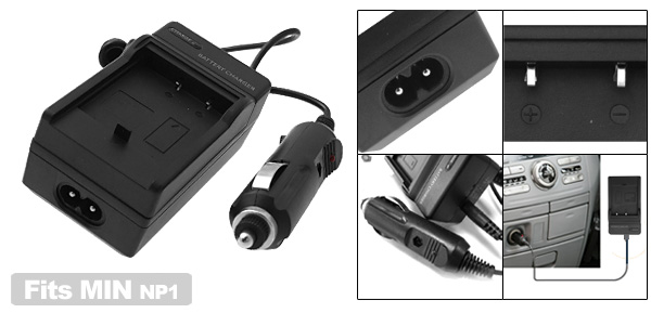Digital Camera Battery Home Travel Charger For Minolta NP1