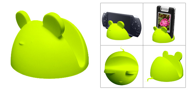 Green Rubber Kelly Mouse Multipurpose Holder for Phone
