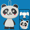 Lovely Panda Compact Pocket Travel Make Up Mirror with Stand
