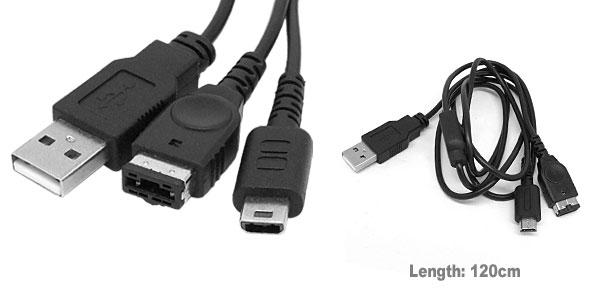 USB Data Transfer Charge Cable for Nintendo DS Lite NDS NDSL